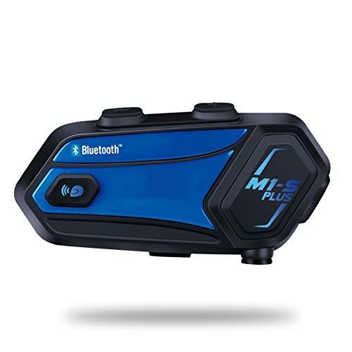 XBJSY M1-S Plus Casco De Motocicleta Intercomunicador para 8 Jinetes Impermeable Inalámbrico Bluetooth Auriculares Intercomunicador Música Compartir GLZERJ