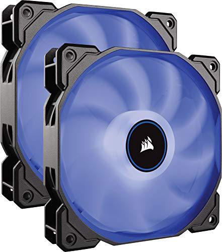 Corsair AF140, Air Series, 140mm LED Ventilateur Silencieux - Bleu (Pack Double)