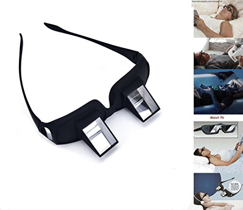 Prisma Brille Lazy Brille im Bett liegend Horizontal lesend Fernsehlinsen Horizontal Brille Schwarz