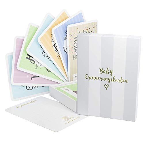 [Deutsch] 40 Baby Meilenstein-Karten für Jungen und Mädchen - baby monatskarten - (Sprache Deutsch) - Meilensteinkarten - Geschenk zur Geburt, Babyparty, Schwangerschaft von Cozy Hedgehog
