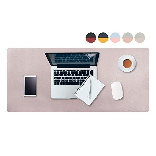 HoYiXi Alfombrilla de Ratón Alfombrilla de Escritorio Impermeable Mouse Mat Oficina Juegos Desk Pad Extragrande de Doble Cara de Mouse Pad 32 'x 16', Gris & Plateado