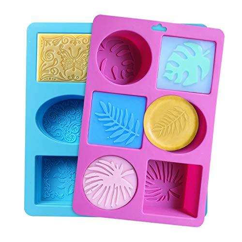 Molde de jabón, 2 piezas Molde de silicona para jabón de grado alimenticio Molde...