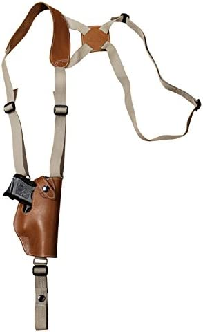 Barsony Max 57% OFF New Complete Free Shipping Saddle Tan Leather Holster for Com Vertical Shoulder