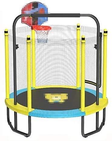 YYhkeby Trampolín Infantil, con Neta, Barra Horizontal y aro de Baloncesto, Adecuado para niños en Interiores para Jugar/rebotar/re Jialele (Color : D)