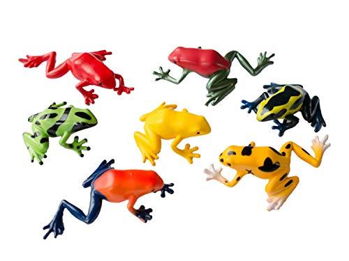 Miniblings 6er Set Frosch Aufstellfiguren Tierfigur Frösche Kröten Giftfrösche