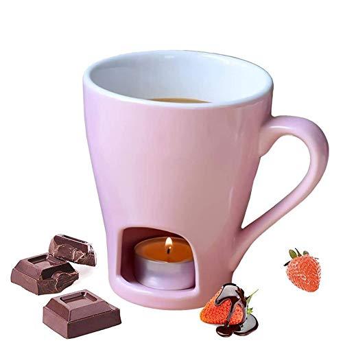 N C Schokoladen-Fondue-Becher-Set, Keramik-Schokoladen- und Käsefondue, Schokoladen-Käse-Fondue-Topf-Set, Keramik-Käse-Schmelztopf