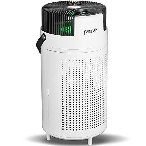 Luftreiniger pasapair H13 Hepa Filter Luftreiniger Die Reinigungseffizienz erreicht 99,9% mit automatischem Schlafmodus für 50m² großes Schlafzimmer, Zuhause, Büro, Rauch, Staub, Pollen, Haare