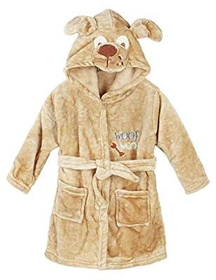 Hamour Unisex Kids Coral Fleece Hooded Bathrobe Girls Pajamas Sleepwear Robes