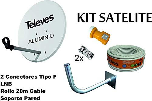 Kit Antena PARABOLICA para Astra TELEVES 63cm Aluminio +