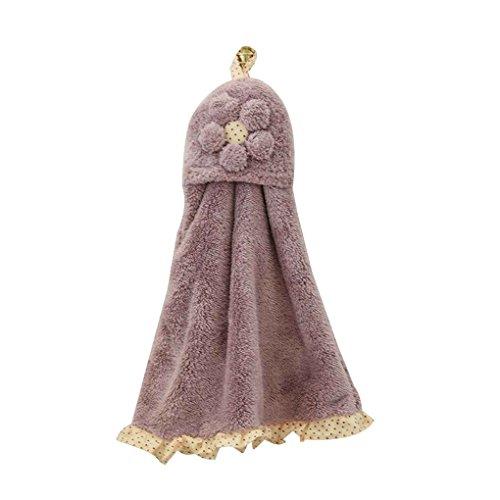 zhibeisai Baby-Kind-Kind-Coral Velvet Handtuch Absorbent Hanging Handtuch Badezimmer Küche Saliva Cloth Handkerchief