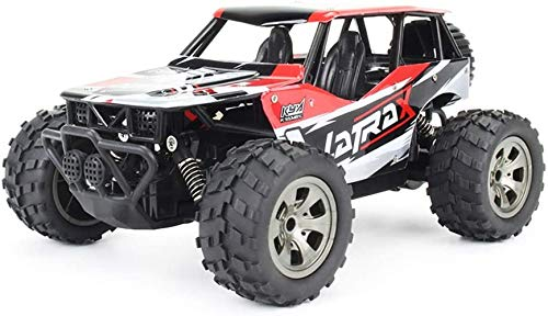 Ferngesteuertes Auto,Auto All Terrain Buggy Pick Up Truck 2,4 GHz 1/18 2WD RC Auto Kind Anfänger LKW (Rot)