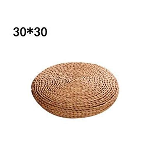 XINGJIJIJIA Exhibit Futon Meditation Cushion Thickening Yoga Circle Corn Husk Straw Braid Mat Japanese Style Cushion Silk Wadding for home office comfortable (Color : B)