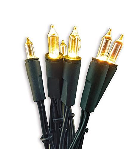 Hellum Lichterkette 20 LED warmweiß Indoor 14,85 m Lichtlänge 1,5 m Zuleitung Deko Beleuchtung Garten Party 560275