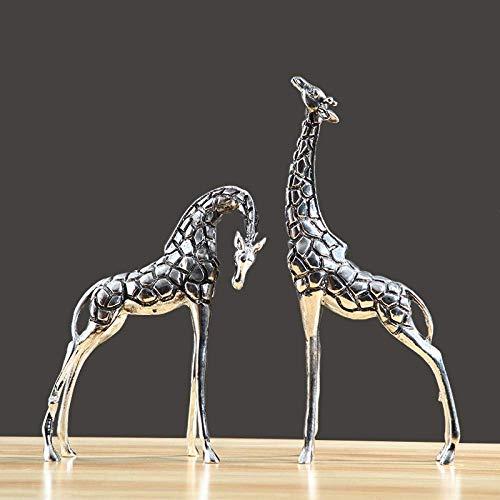 Mnjin Decoracin del hogar Escultura de Arte Estatua Ornamento de Estatua Estatuas y estatuillas Sala de Estar Decoracin de Animales Adorno Entrada Gabinete de Vino Escultura de Jirafa Artesana
