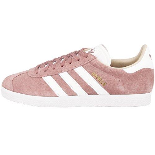 adidas Gazelle W, Zapatillas de Deporte Mujer, Morado (Ash Pearl/Footwear White/Linen), 37 1/3 EU