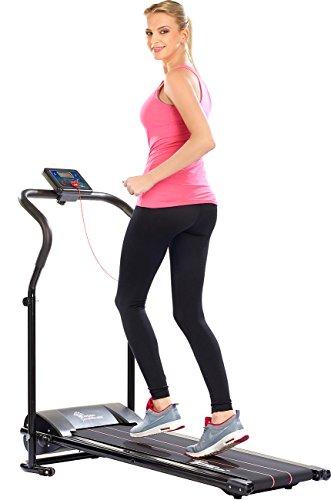 Newgen Medicals Laufband klappbar: Laufband LF-203.Mini mit 3 Sport-Programmen, zusammenklappbar (Mini Laufband)