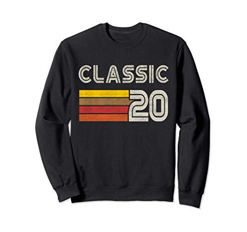 Classic Retro Number 20 - Year 2020 Sudadera