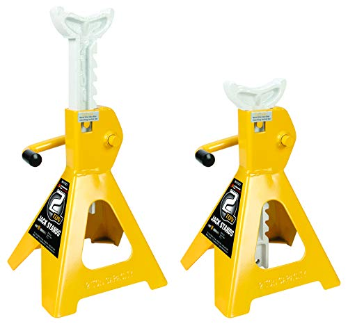 Performance Tool 2 Ton (4,000 lbs.) Capacity Heavy Duty Jack Stand Set, W41021