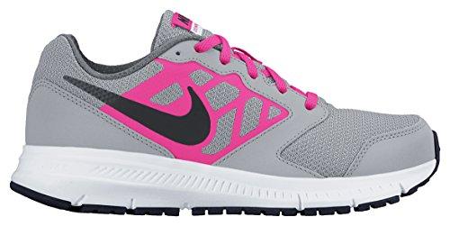Nike Nike Unisex-Kinder Downshifter 6 (Gs/Ps) Laufschuhe, grau/rosa, EU 36.5 (US 4.5Y)