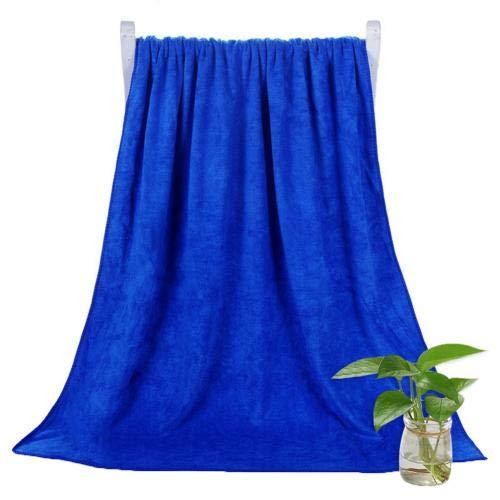 Heliansheng Toalla de baño súper Absorbente de Toalla de baño de Secado rápido de Color sólido de 140 * 70 cm - Azul Zafiro
