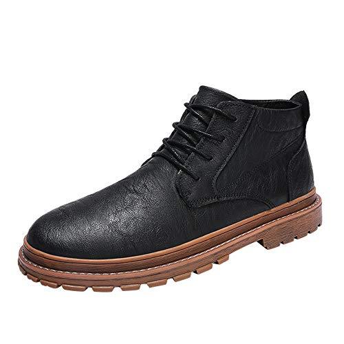 GY-HCJI Nxdj - Botas de tobillo para hombre, estilo clásico, de metal, cómodas, de piel, color marrón, talla: 44 EU