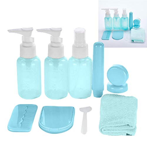 Lurrose 1pc 10 in 1 Travel Bottles Portable Refillable Professional Toiletry Bottles Travel Containers for Cream Shampoo Lotion Soap