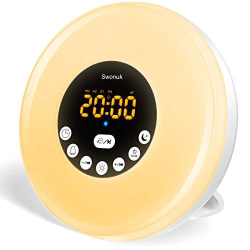 Radio Réveil LED intelligent avec Effets Lumineux...