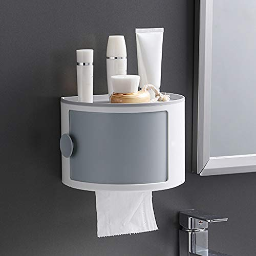 Double-Layer Toilet Paper Rack, Toilet Paper Box gratis ponsen waterdicht papier Roll creatieve ladekast A1