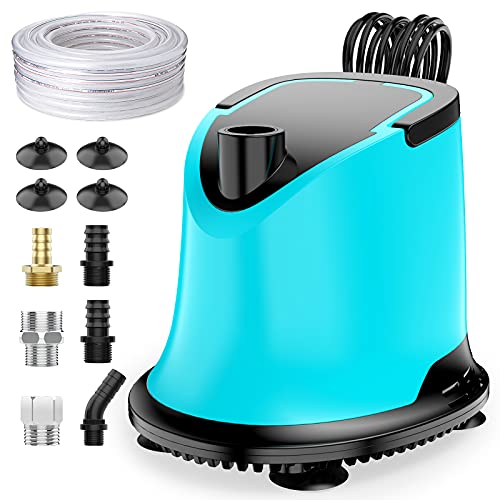 AISITIN Bomba de Agua Piscina con Filtro, 220V Bomba Agua Sumergible Slienciosa por Superficie Sucias Depuradora Vaciado