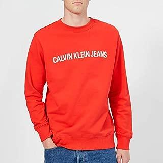 Calvin Klein Hoodies & Sweatshirts For Men, Red, Size XXL (J30J307758-RED)