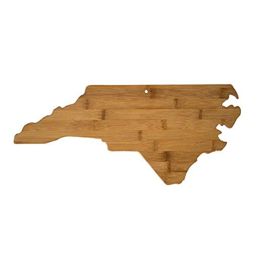 Totally Bamboo North Carolina State Shaped Bamboo Serving & Cutting Board
