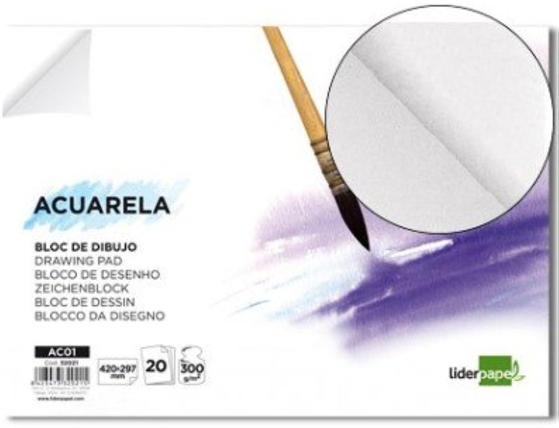 Liderpapel Aquarell Aquarell Aquarell – Zeichenblock Geleimt 210 x 297 mm 20 Blatt 300 g m2 ohne Rahmen (4 Stück) B00YVQFB4O  | Up-to-date-styling  72ab38