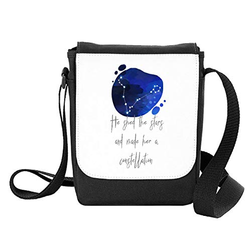 Zodiac Star Sign Pisces He Shed The Stars and Made Her A Constellation Shoulder Bag - Small