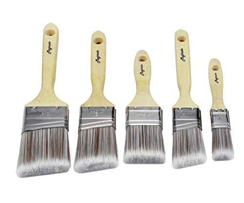 Magimate paint brushes set, sash brushes, soft tapered filament, wood stain brushes for walls, cabinets and fences pack of 5