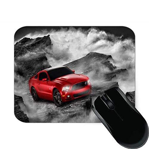 N\A Coche Rojo en la fotografía del mar de la Nube Alfombrilla de ratón