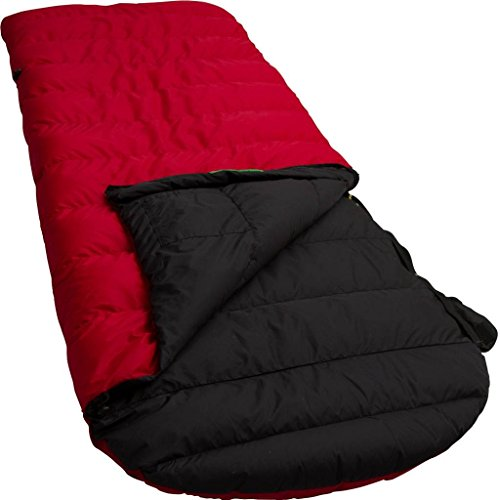 LOWLAND OUTDOOR® - Daunen Deckenschlafsack mit Kaputze - Ranger Comfort - 230x80 cm - Nylon 0°C
