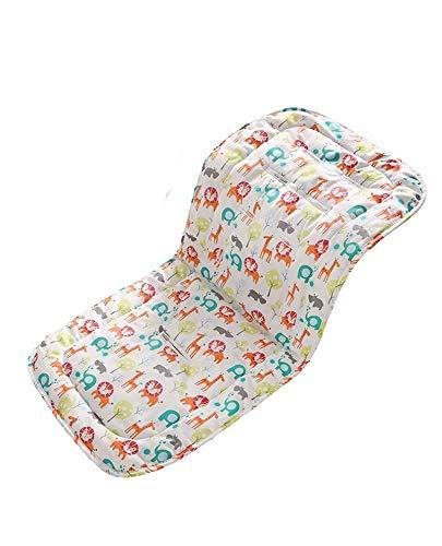 Cojín para cochecito de bebé,cojín de algodón universal forro de asiento para bebés,cochecito de niño recién nacido asiento portátil(Zoo)