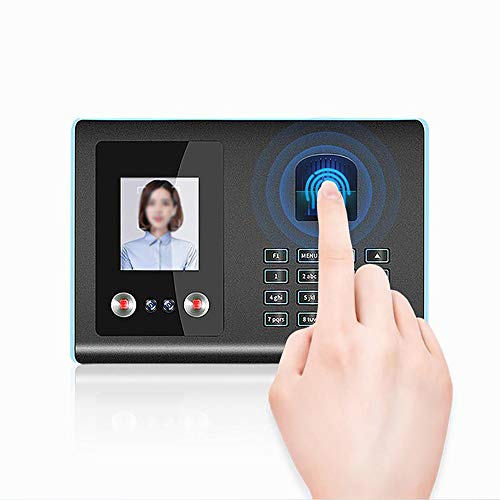 CNRGHS Intelligente Biometrische Aanwezigheid Machine, Tijdklok Aanwezigheid Machine Systeem, Ondersteuning Gezicht Vingerafdruk Wachtwoord Medewerker Inchecken Recorder Lezen