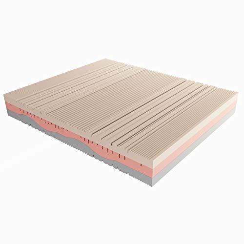 Baldiflex Emporio Materasso Matrimoniale Memory Melodia 3 Strati 160 x 200 cm Alto 23 cm - Rivestimento Sfoderabile Aloe Vera
