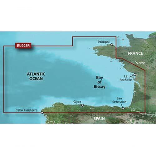 Garmin BlueChart g3 Seekarte Region Europa, Abdeckungsbereich HXEU008R - Biskaya, Kartengröße Regular
