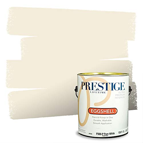 Prestige Paints Interior Paint and Primer In One, 1-Gallon, Eggshell,  Comparable Match of Benjamin Moore Linen White