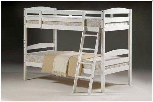 Moderna in legno massiccio singolo 3'0m letto a castello in colore bianco (solo telaio)