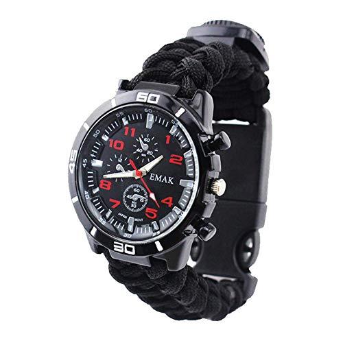 KOBWA 6 en 1 reloj de pulsera de supervivencia, para hombres y mujeres