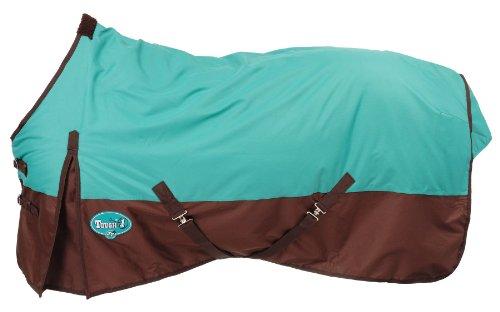 Tough 1 600 Denier Waterproof Horse Sheet, Turquoise/Brown, 81-Inch