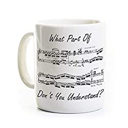 Music Humor Coffee Mug What Part Dont You Understand Gift For Musician