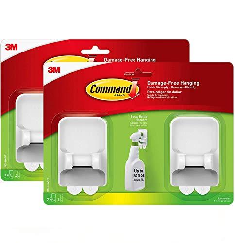 Command Spray Bottle Hangers Value Pack, 2-Hangers, 4-Large Strips (17009-HW2ES) (2)