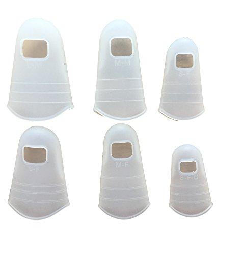 6er Set Silikon Fingerschutz – Universal Fingerkuppen Abdeckungen Schutz-Kappen Hüllen Durchsichtig/Transparent – Ideal für Haushalt Handwerk Malen Gitarre – Handschuhe Ersatz - Wiederverwendbar
