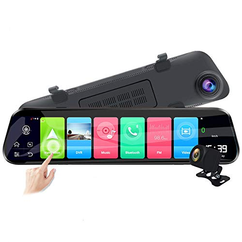 EKLEVA 12 Inch Full Screen Rear View RAM2GB ROM32GB Mirror Dash Cam Android 8.1 4G Car DVR Dash Camera ADAS WiFi GPS Navigator Dash Cam 1080P Video Recorder