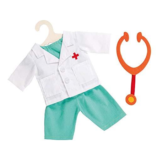 Heless 1653heless Doctor Costume avec statoscope pour Petit Poupée