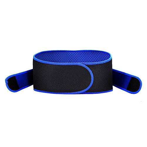 Faja Lumbar Ajustable - Cinturón de Cintura Respirable Soporte de Cintura Unisexo para Entrenamiento Aliviar el Dolor y Lesión